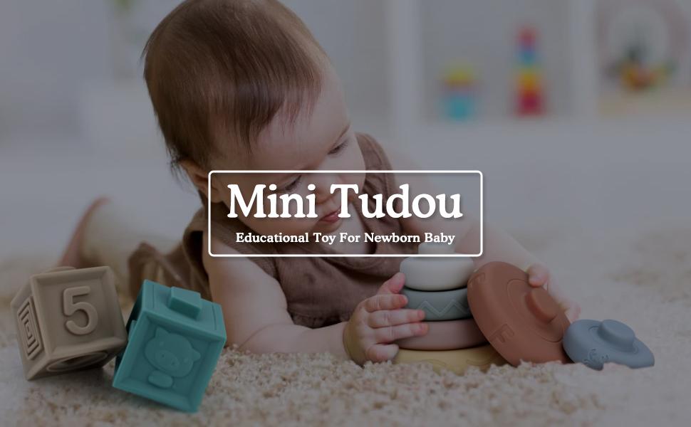 Mini Tudou Stacking Nesting Toys Montessori Sensory Toys for babies 6 to 12 months-1