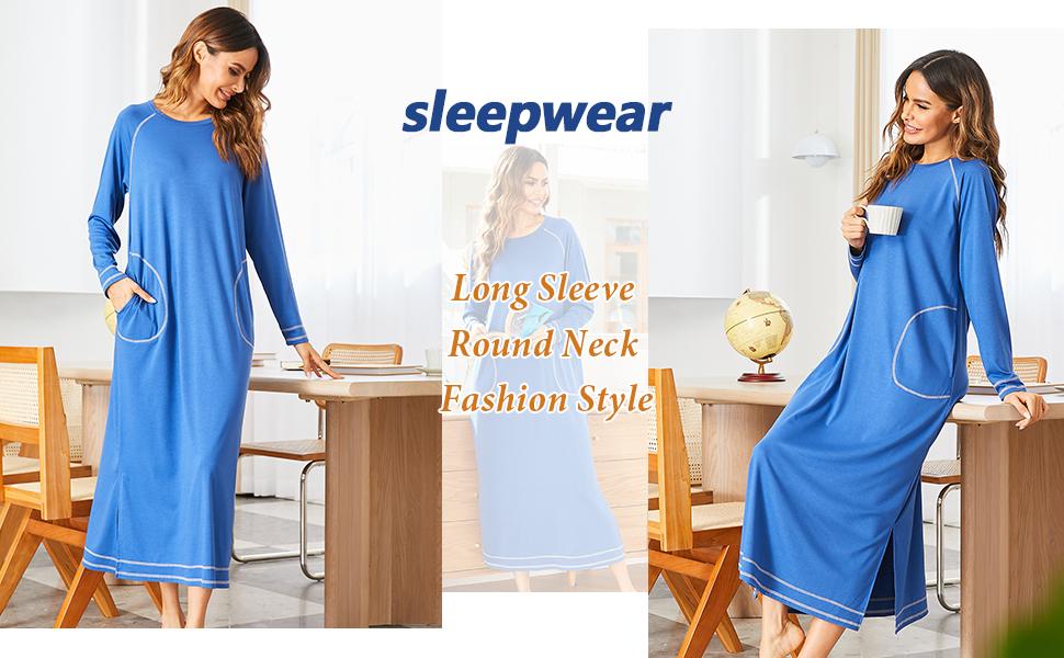 Long sleeve nightshirt