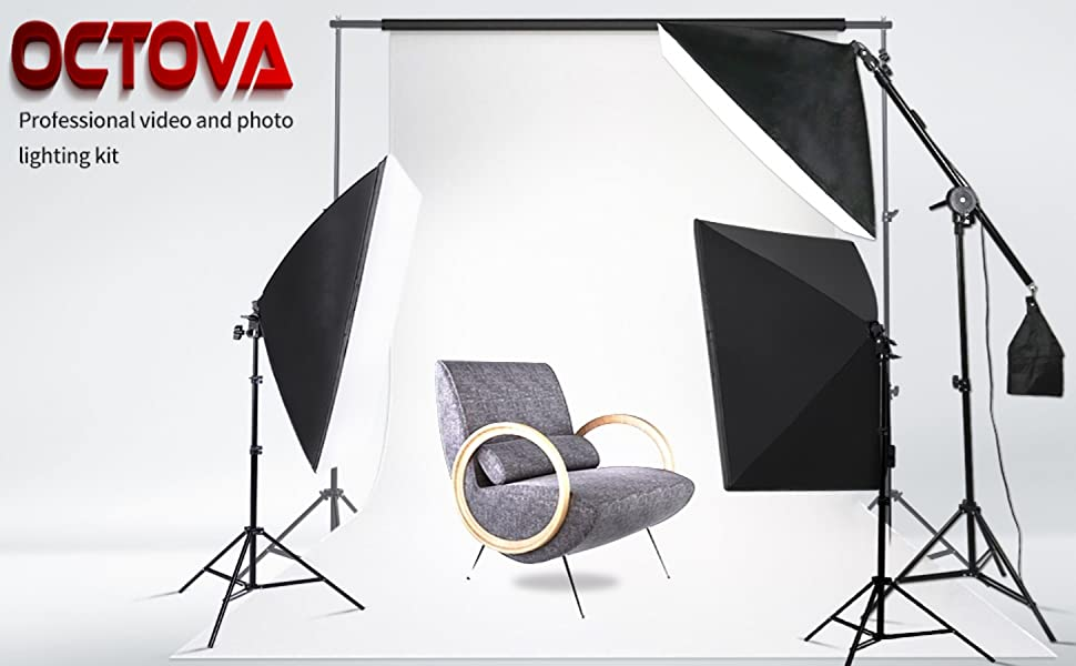 3 point lighting kit softbox photo studio constant continuous photography videography shooting