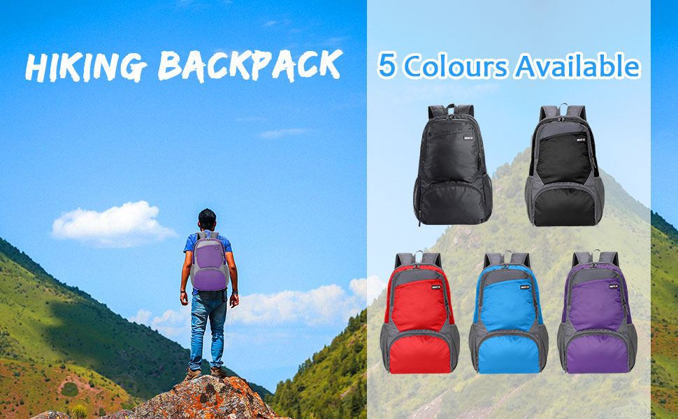 Reusable Ultra Lightweight Folding 20l Backpack for Men and Women Hiking Day packs collapsible Bag