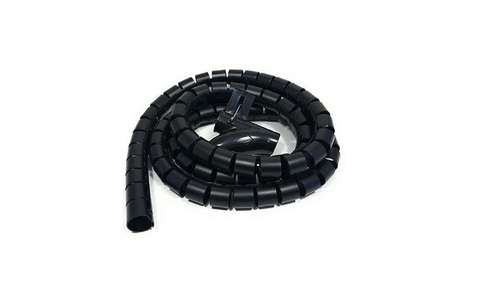 Bambelaa Kabelschlauch 1 5m 3 0m Kabelkanal Kürzbar Kunststoff Flexible Kabelorganisation 20mm 30mm Durchmesser Schwarz 3 0m X 30mm Bürobedarf Schreibwaren