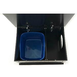 designer catbox litter box enclosure black
