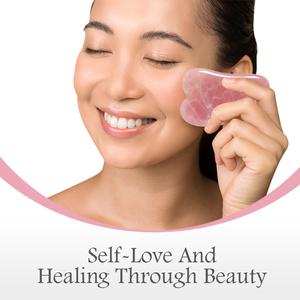 Eternal Allure Rose Quartz Roller & Gua Sha Set beauty face skin