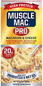 Muscle Mac Microwavable Cups Easy Mac amp; Cheese NON-GMO Macaroni High Protein Variety Pack Probiotics