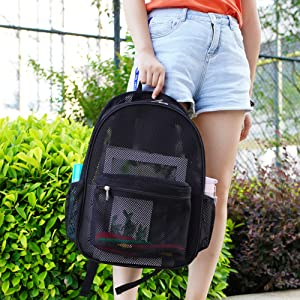 Mesh Backpack with Large Compartment