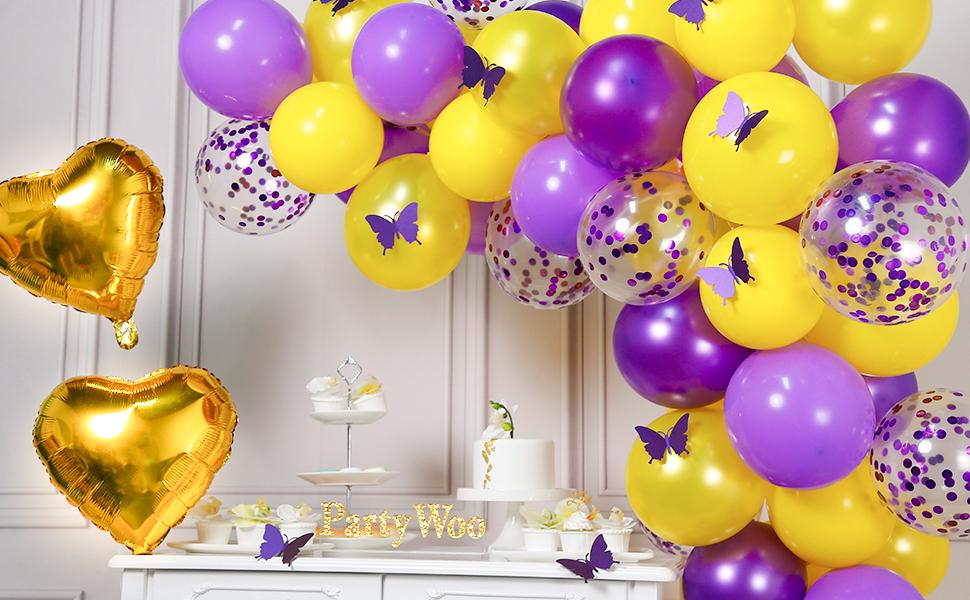 6 x irisé Foil Balloon poids 175 g Hélium Amscan Fête D/'Anniversaire Décoration