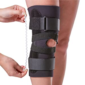 removable stays prevent side to side injuries in the kneecap