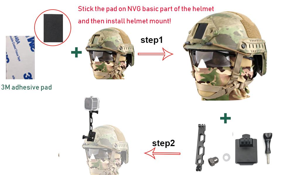 helmet mount 360 camera insta360 one x