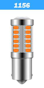 1156 led bulb amber