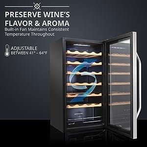 Ivation Wine cooler Preserve Wine's Fullest Flavor & Aroma
