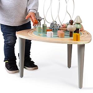 table d'activités sweet cocoon bois janod pieds anti-dérapants