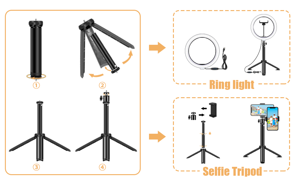 Extendable Tripod Stand 02