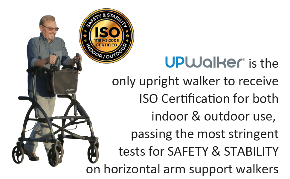 Upwalker, UPWalker upright walker, walker, walk upright, stability, certified, ISO, support