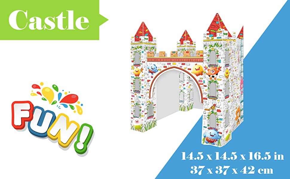 craft,art,kids,paint,toddlers,fun,activity,cardboard,playhouse  castle diy costume
