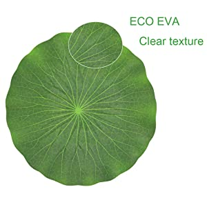 YANSHON 9 Pack Artificial Water Lily Leaves Artificial Floating Foam Lotus Le...