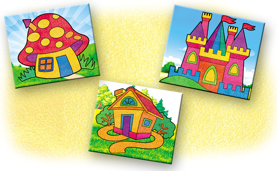 Sandart Pictures - Fantasy Houses filled with colours