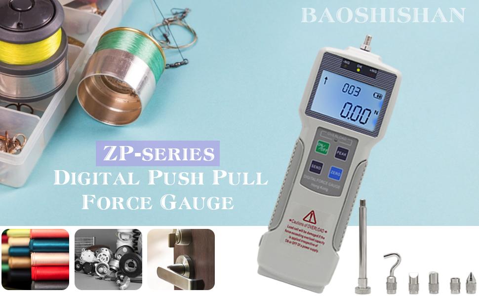 5Kgf//11Lbf//50N BAOSHISHAN ZP-50N Digital Force Gauge Bundle + APW Force Test Stand