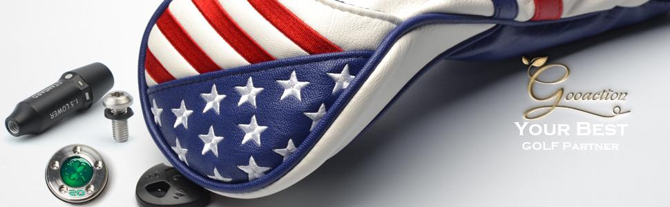 usa flag patriotic golf club head cover