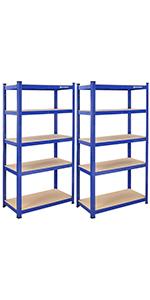 Opbergrek - 180 x 90 x 45 cm - blauw
