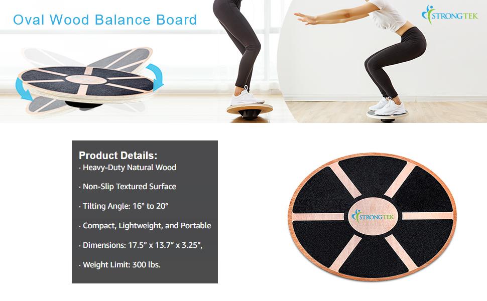 oval wood balance board
