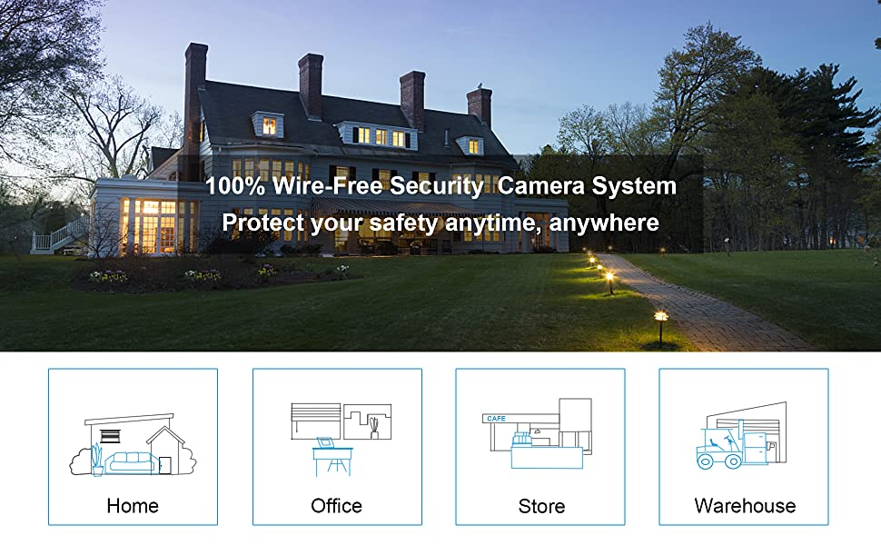 Pan Tilt Battery Camera Outdoor Wireless for Home Security Rechargeable Battery Home Surveillance