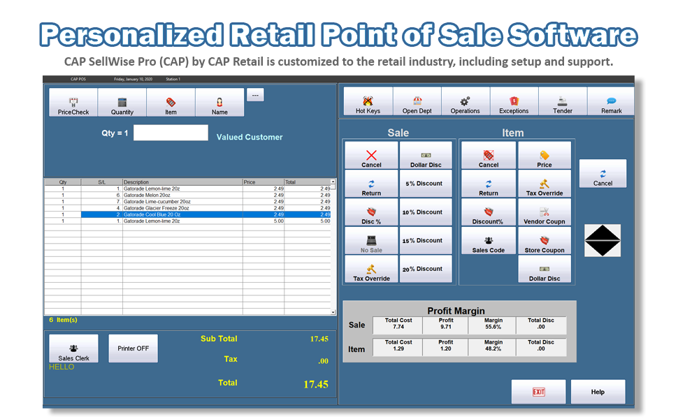 Personalized Retail Point of Sale Software