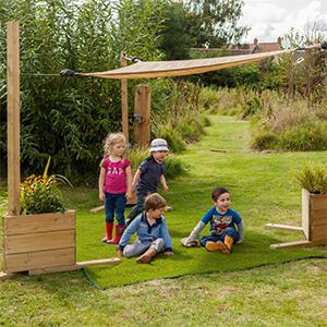 children kids sun shade sail-sandbox landscape lawn shades backyard garden-5x5x5 or 6x6x6 size