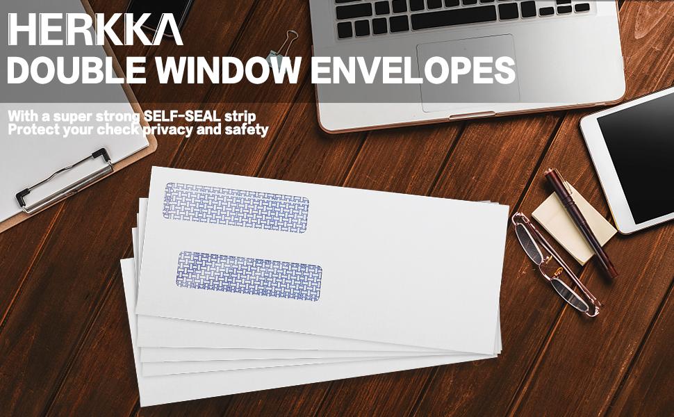 double window envelopes number 8