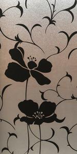 Black Flower Window Film