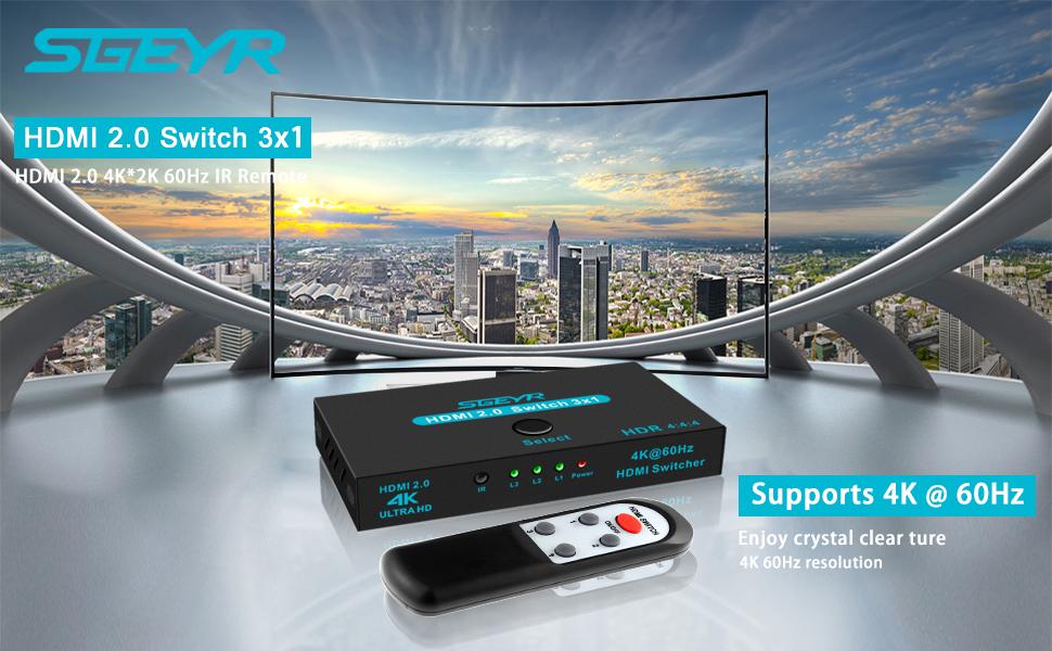 HDMI 2.0 Switch 3 Port