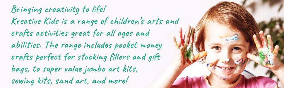 kreative kids, kids art sets, kids colouring kits, creative kids, colouring, sewing, craft kits, kid