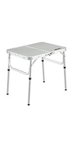 Unibos Multi-Purpose Compact Camping Table White