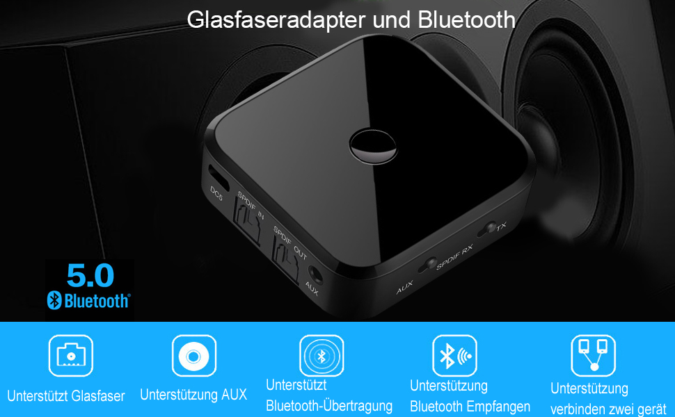 Iulonee Bluetooth Adapter 5 0 Transmitter Receiver Computers Accessories