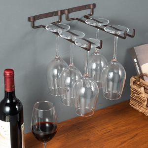 10 inch wine glass rack holder wall mounted under cabinet
