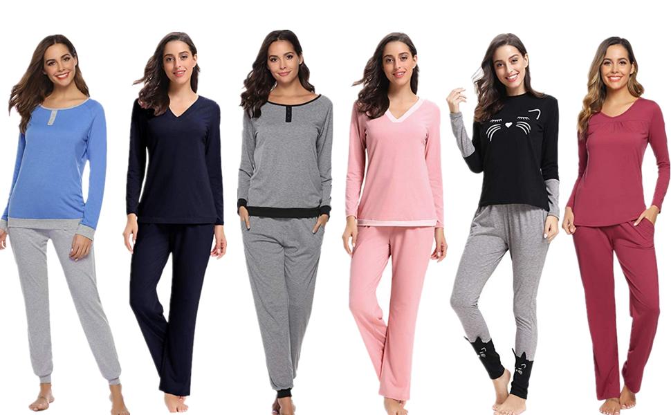Pijamas algodon mujer