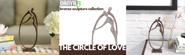 Header for bronze circle of love sculpture