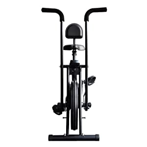 Reach air bike with back support