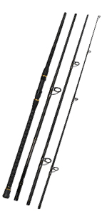 Surf Spinning Fishing Rod 4 Piece Portable Travel Spinning Rod