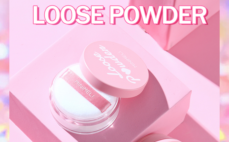 face powder Loose powder setting makeup