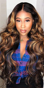 upart bob wig ombre color