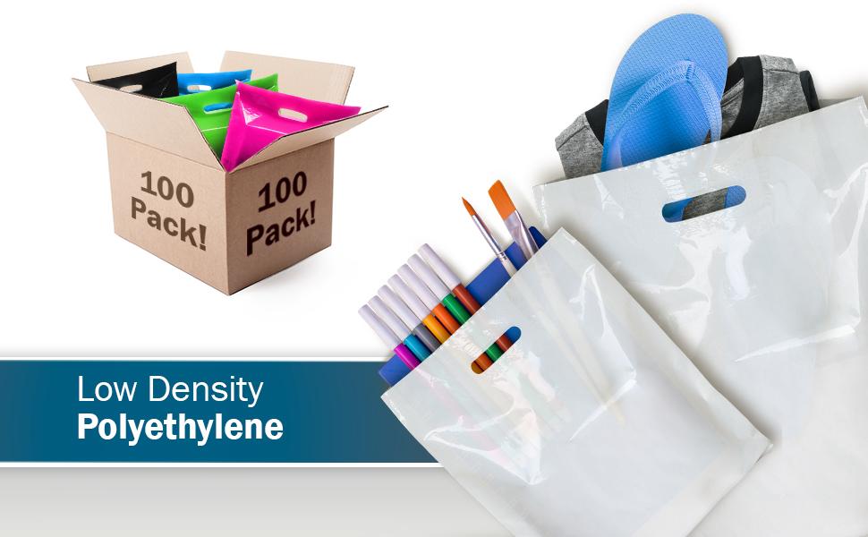 supplies cut thick handle color tiendas para reusable store plasticas bolsas glossy