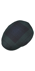 checkered newsboy cap hat scottish check ivy winter
