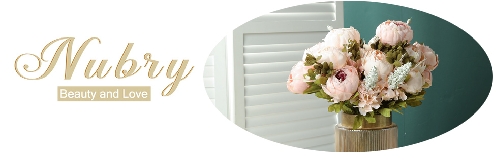 nubry silk peony artificial flowers for wedding decoration home decoration