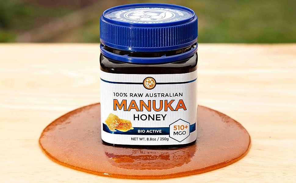 Raw Certified NPA 15+ Highest Grade Manuka Honey MGO 510+ Medicinal Strength