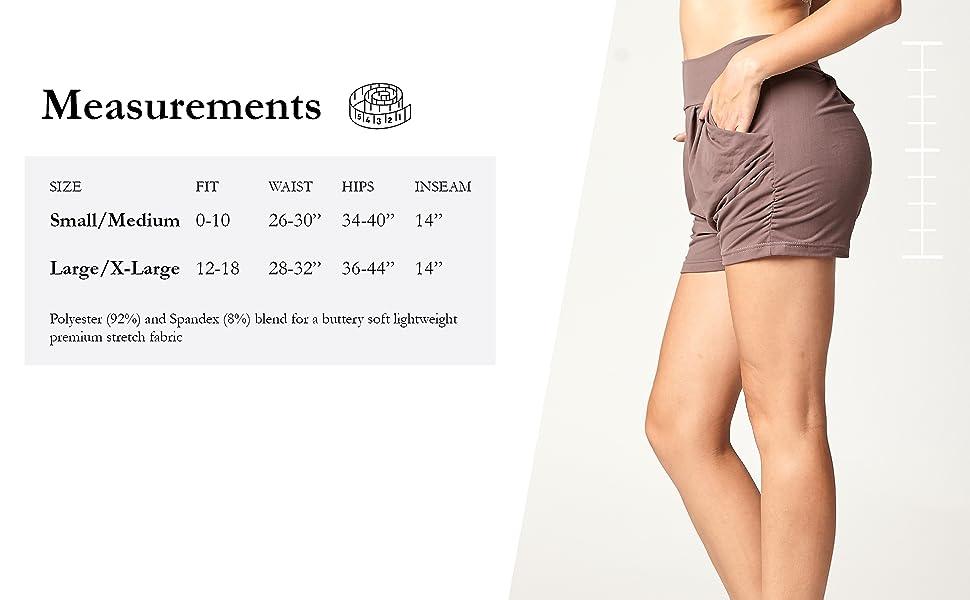 Harem Shorts Size
