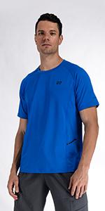 Men Blue Workout Shirt