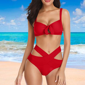 bowknot swimsuit top