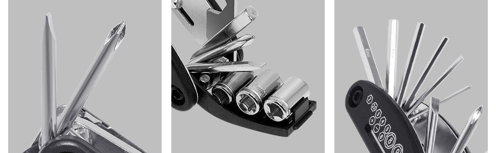 Stahl Fahrrad MTB SchraubenschlüsselSechskantschlüsselReparatur Werkzeug ToolVI