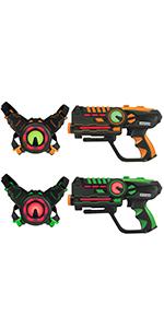 ArmoGear laser battle laser tag 2 pack at home laser tag gun & vest laser tag outdoor games backyard