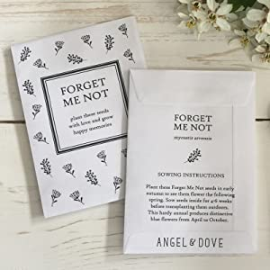 Forget Me Not Favors Custom Seed Favor Funeral Favors